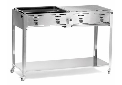 Hendi Gas Barbecue with base and wheels