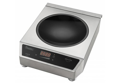 Hendi Digital Adjustable Round Induction Wok   3500Watt
