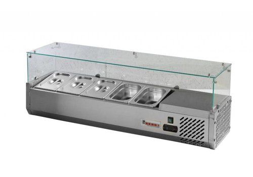Hendi Refrigerated display case Stainless steel   9x GN 1/4 150 mm