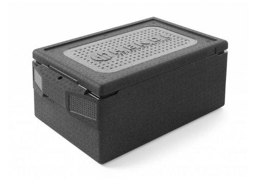 Hendi Thermobox 1/1 GN Zwart | 39 Liter
