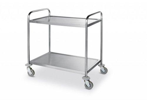 Hendi Edelstahl-Trolley 2 Blatt | 90x59x93 cm