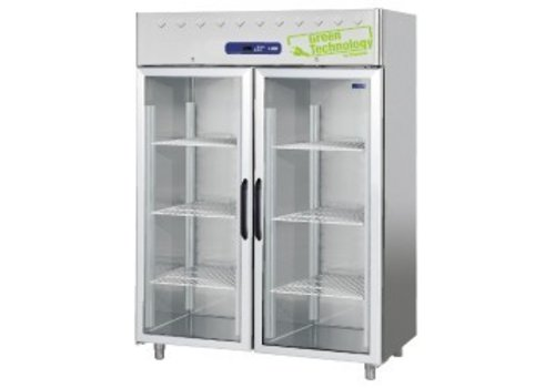 Diamond Stainless steel Freezer with 2 Glass Doors 1403 Liter