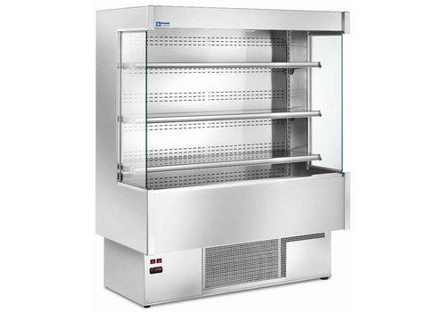 Diamond Luxe Koel Inox Wandmeubilair - Staal/RVS - 3 ventilatoren - Gehard glas