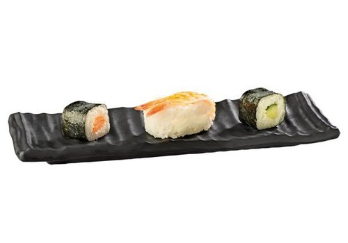 APS Sushi Bord Zwart Melamine | 24x8x2cm