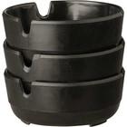 APS 3-teiliges Set schwarz Aschenbecher Ø7,8x (H) 3cm