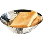 APS Bread & Fruit Bowl Hammered Effect Stainless Steel Ø16x5cm