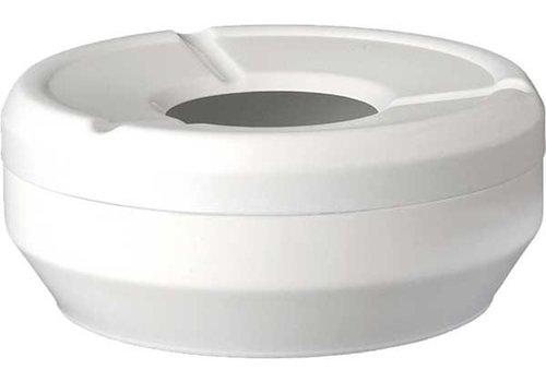 APS Weißer Aschenbecher stapelbar Ø10x4cm