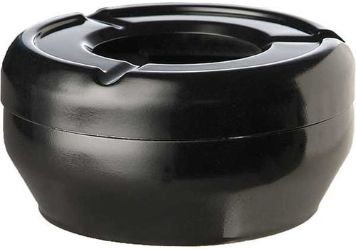 APS Aschenbecher Black Round Stapelbar Ø12x4,3cm