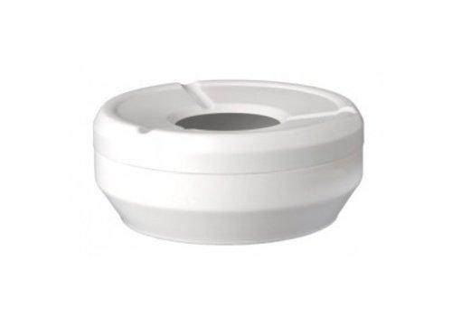 APS Ascher runde weiße stapelbare Ø12x4,3cm