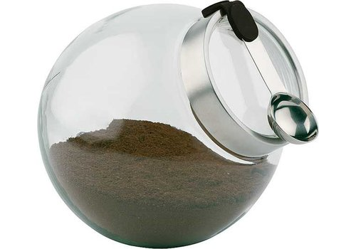 APS Koffie/Kruiden Pot van Glas Ø20x18cm