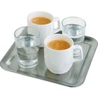APS Coffee cup Serving plate stainless steel 23x23x1.5 cm