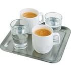 APS Koffiekop Serveerschaal RVS  23x23x1,5 cm