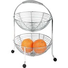 APS Fruit Etagère Chromed | 2 Floors