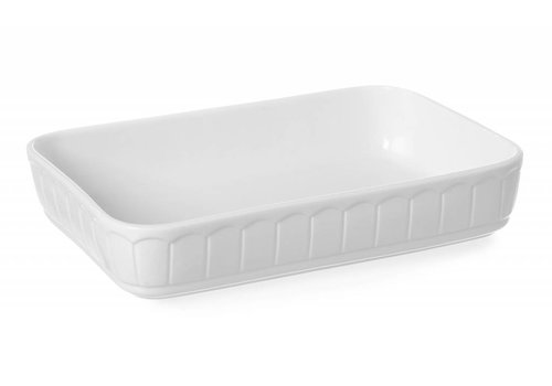 Hendi Ofenschale Weißes Porzellan Rechteckig | 33x22,5 cm
