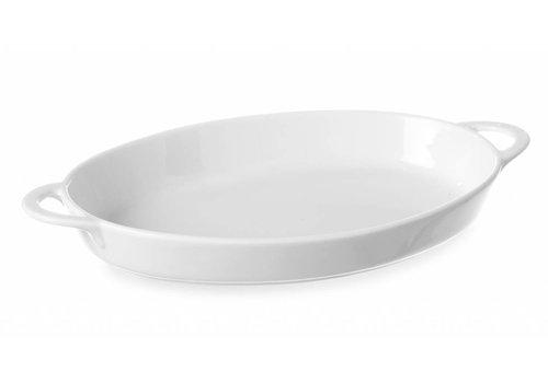 Hendi Backofen Geschirr Porzellan Weiß mit Griffen (6 Stück)