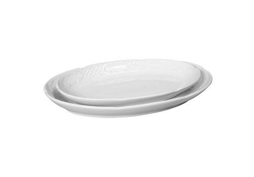 Hendi Weißes Porzellan Servierschale Oval (6 Stück)