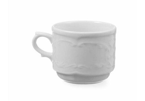 Hendi Weiße Porzellankaffeetasse | 180 ml (6 Einheiten)