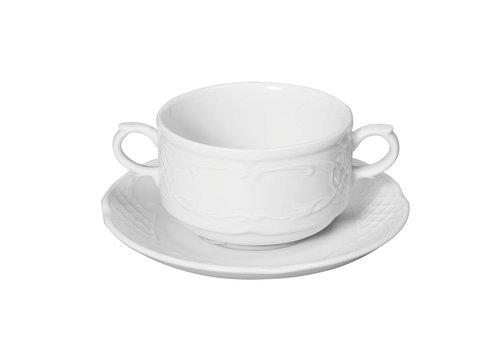 Hendi Weißes Porzellan Geschirr | 15,8x20 cm (6 Einheiten)