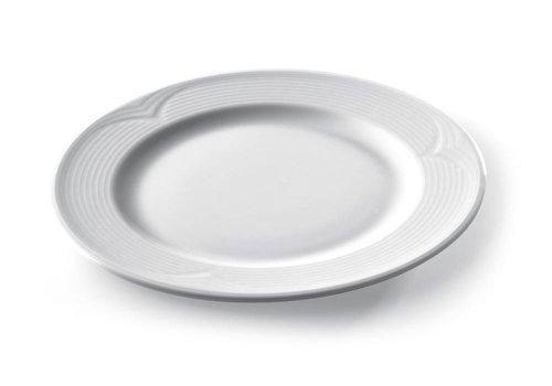 Hendi Runde Platte Weißes Porzellan   24 cm (6 Einheiten)