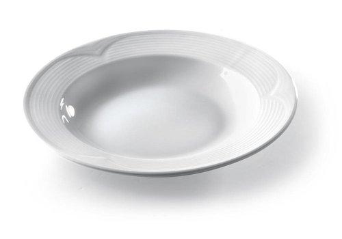 Hendi Hendi Tiefpastateller Porzellan Weiß | 22 cm