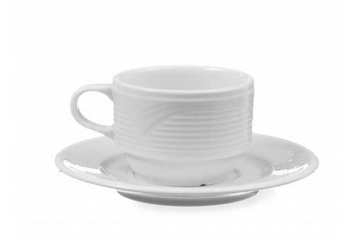 Hendi Weißes Porzellan Teller   15 cm (6 Einheiten)