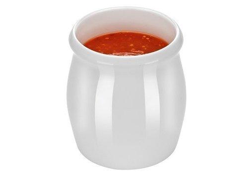 Hendi Porzellan-Weiß Dressingpot 1 Liter | 6 Stück