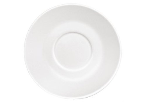 Olympia Kaffeeuntertasse Weißes Porzellan (12 Stück)