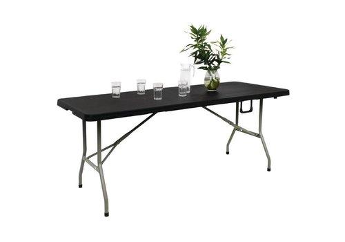 Bolero Foldable buffet table black - 183cm
