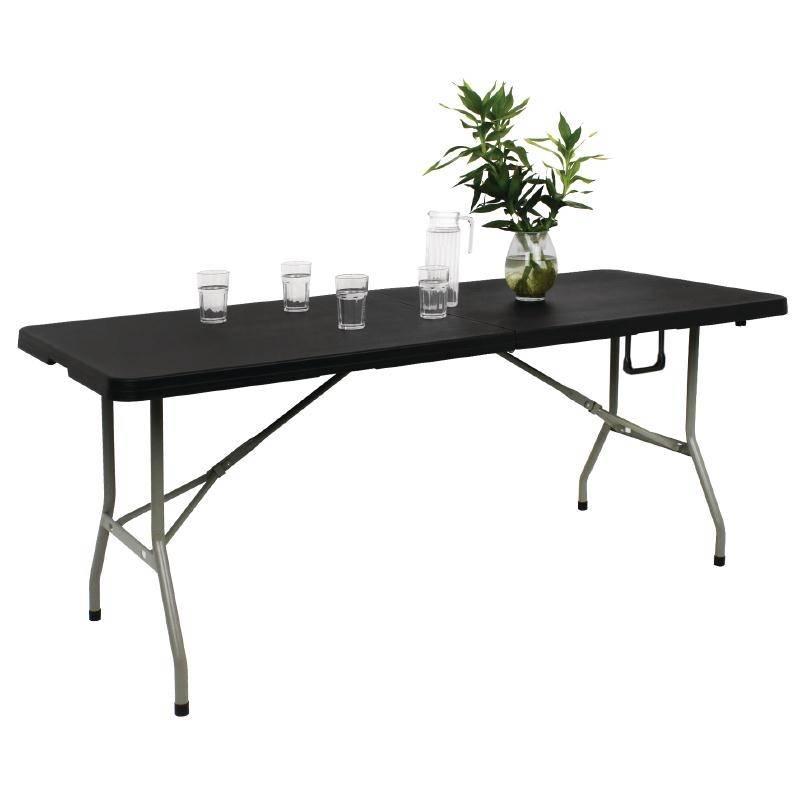 Bolero faltbare buffet tisch schwarz 183cm for Tisch schwarz