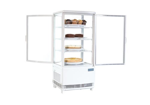 Polar Compact white Cooling display with glass door - 87 liters