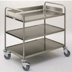 Hupfer Clearing trolley with 3 sheets / heavy material 103 (h) x110x70cm