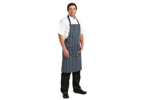 Chef Works Koksschorten Navy blauw met strepen