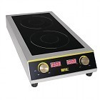 Induction cooktop double