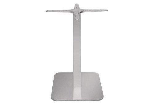 Bolero square stainless steel table leg - 68 cm high