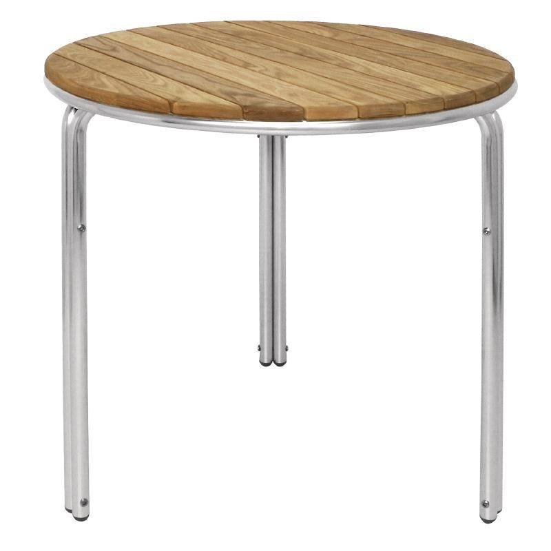 bolero stapelbare tisch 60cm rund esche aluminiumbeine. Black Bedroom Furniture Sets. Home Design Ideas