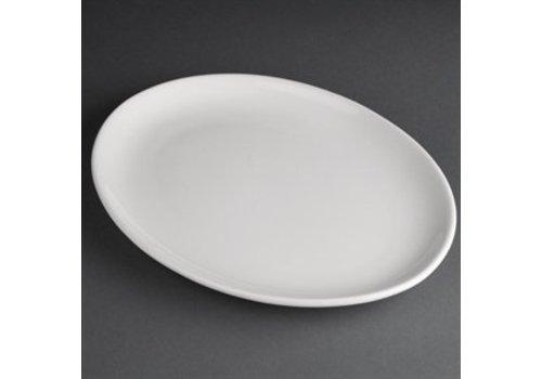 Athena Porcelain oval flat plate | 30 cm (piece 6)