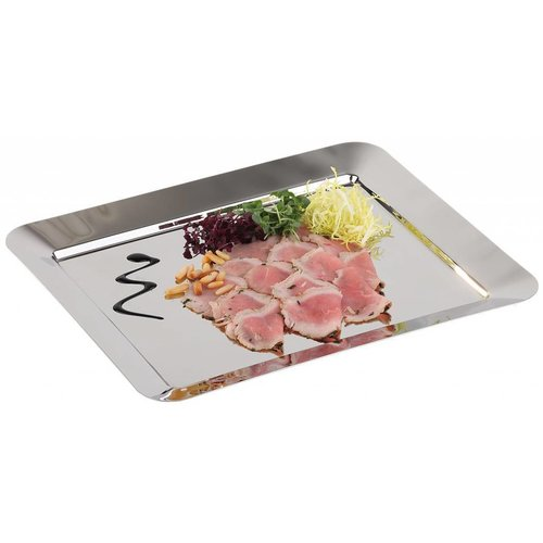 Stainless steel serving plates & serving dishes
