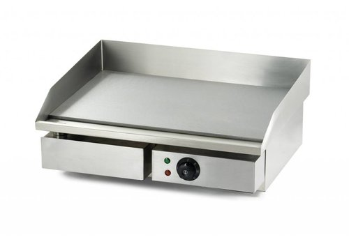 HorecaTraders Griddle Smooth Electric 55x47cm