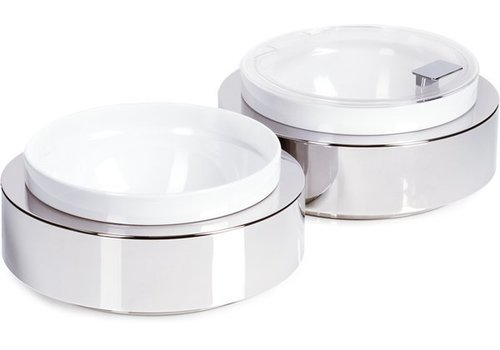 APS Stainless Steel Buffet Plate with Bowl and lid | Ø26,5x (H) 8.5 cm