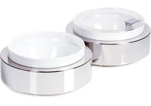 APS Buffet-Platte mit einer weißen Schale | Ø26,5x (H) 8,5 cm