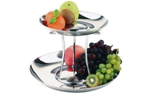APS Luxury Stainless Steel Fruit Etagère   2 Floors