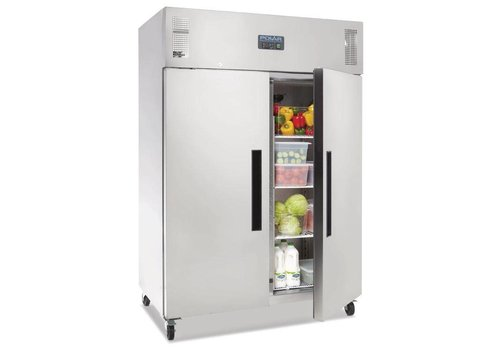 Polar Stainless Steel Hospitality Fridge With Solid Swivel Wheels 1200 Liter
