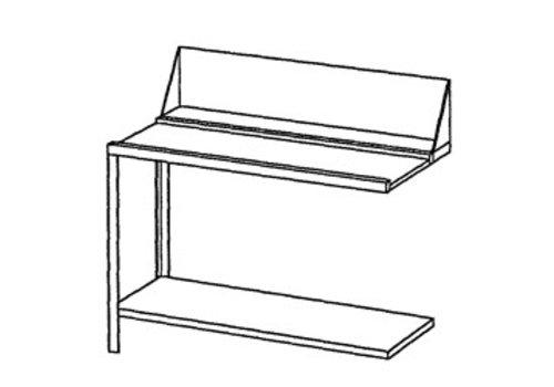 Bartscher Edelstahl Drehen oder Tisch Links Drain | 120x72x85 cm