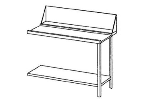 Bartscher Roes Ganz Stahl auf oder Ausgabetisch rechts | 120x72x85 cm