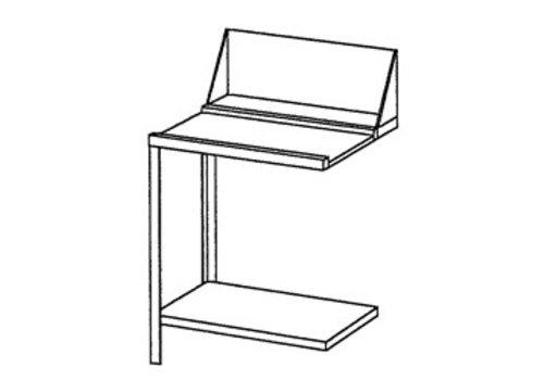 Bartscher Roestvrijstalen Aan- of afvoertafel links | 70x72x85 cm
