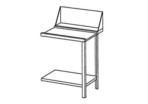 Bartscher Roestvrijstalen Aan- of afvoertafel rechts | 70x72x85 cm