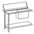 Bartscher Flow-Tabelle Links | Edelstahl | 120x72x85 cm