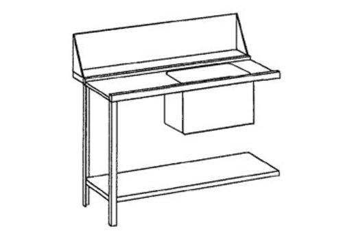 Bartscher Aanvoertafel links | Roestvrijstaal | 120x72x85 cm