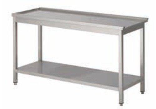 HorecaTraders Drain Tisch rechts Professional | 5 Abmessungen
