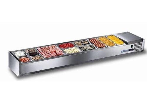 Afinox Offene Kühl Display Setup 6x oder 12x 1/3 GN 1/6 GN